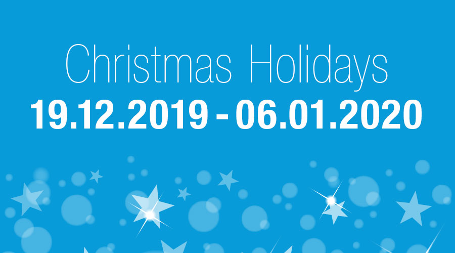 Christmas holidays 2019