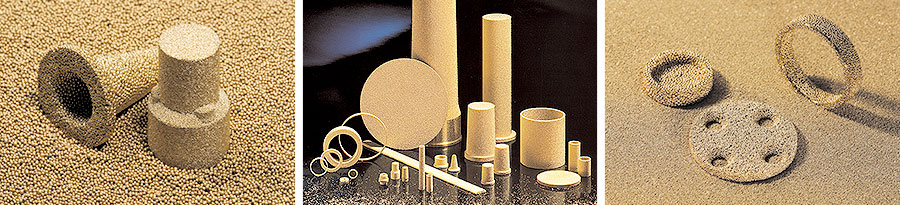 Sintered filters made of bronze